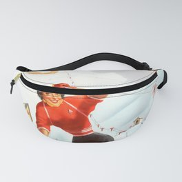 classic poster Italy Limone Piemonte Skiing Winter Sports Fanny Pack