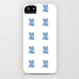 Maneki neko blue version iPhone Case