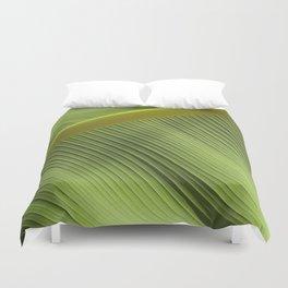 """""""Green Spring Big Leaf"""" Duvet Cover"""