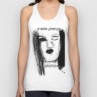 jessica lange Tank Tops featuring Jessica by Evelyn Watkins