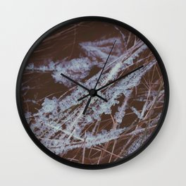 autumn breathes with winter Wall Clock