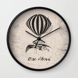 Aviator: Rise Above (sepia) Wall Clock