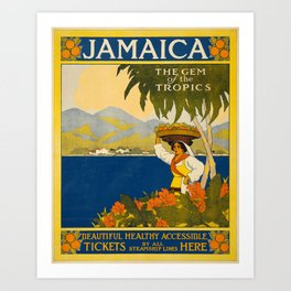 Jamaica, The Gem of the Tropics Art Print