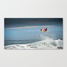 Julian Wilson at the World Tour of Surf in France, 2013. Canvas Print