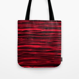 Juicy Red Apple Stripes Tote Bag