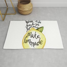 When Life Hand You Lemons Make Lemonade Rug