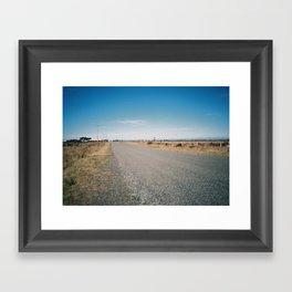 The Road to Birdlings Flat Framed Art Print