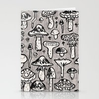 mushrooms Stationery Cards featuring mushrooms by SIINS