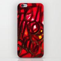 hook iPhone & iPod Skins featuring Hook Eye by Gary Lee Hutchings