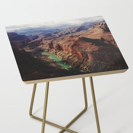 The Colorado Runs Through Marble Canyon Side Table