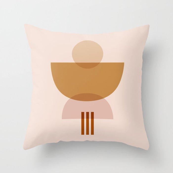 Amber Abstract Half Moon 3 Throw Pillow