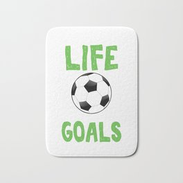 Life Without Goals Soccer Footballer Goalie Rugby Football Players Team Sports Gift Bath Mat