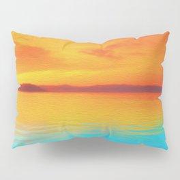 sunset beachh Pillow Sham