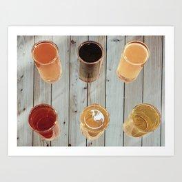 Refreshing Beer Tasting Flight - Beer Flight - Oktobefest - Lager, IPA, German Beer, Ale Art Print