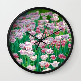 Spring Tulips - The Flower Collection Wall Clock
