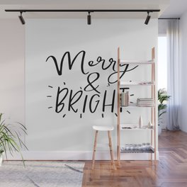 Merry and Bright Svg - Digital File - Clip Art - SVG, PNG, JPG, - Personal and Commercial Use - Arts Wall Mural