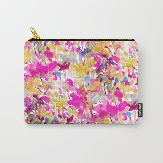 Local Color Yellow Pink Carry-All Pouch