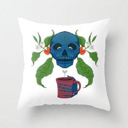 Death by Caffeine Throw Pillow