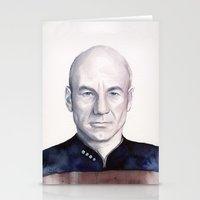 picard Stationery Cards featuring Captain Picard by Olechka