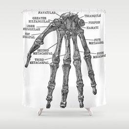 Bones of the Human Hand // Anatomy Skeleton Shower Curtain