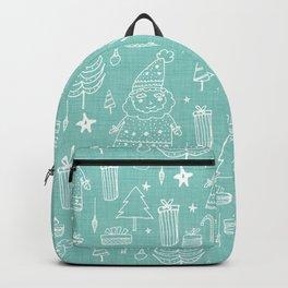 Santa Workshop Blue Backpack