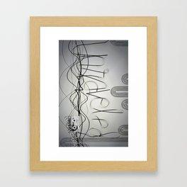 Unraveled; unrevealed Framed Art Print
