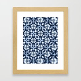 Watercolor Shibori Indigo Framed Art Print