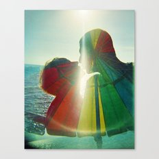 Lovers Kissing - They are Rainbow High Canvas Print