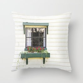 The Green Window Throw Pillow
