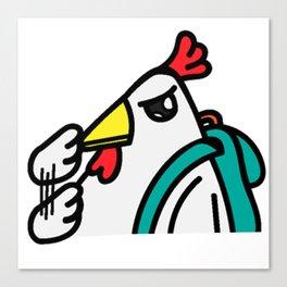 tyler duck ready to jerky Canvas Print