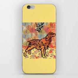 Hunting dog pop art iPhone Skin