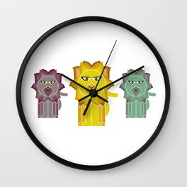 Lion With The Fiery mane Wall Clock