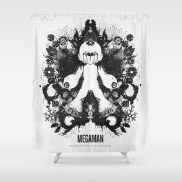 Megaman Geek Ink Blot Test Shower Curtain
