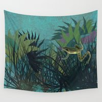 frog Wall Tapestries featuring frog by giancarlo lunardon