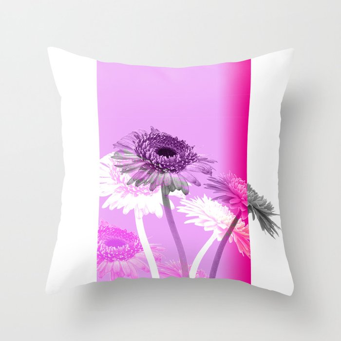 flowers are flowers and pink is the warmest color Throw Pillow