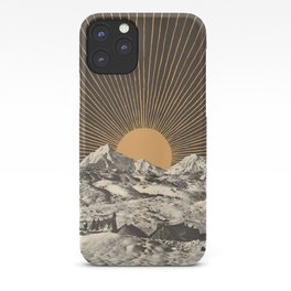 Mountainscape 6 - Night Sun iPhone Case