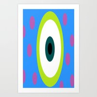 monsters inc Art Prints featuring Monsters Inc. by amalchristine