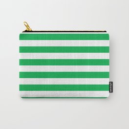 Horizontal Green Stripes Carry-All Pouch