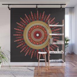 Red Mandala Wall Mural
