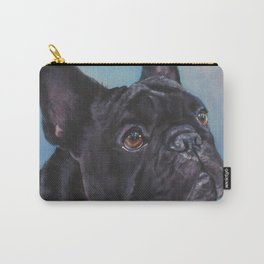 french bulldog dog portrait art from an original painting by L.A.Shepard Carry-All Pouch