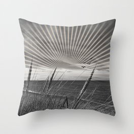Before the storm - sunset graphic Throw Pillow