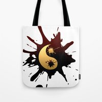 ying yang Tote Bags featuring Ying-Yang by Jessica Jimerson