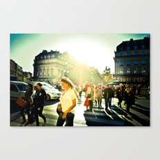 une promenade à Paris Canvas Print