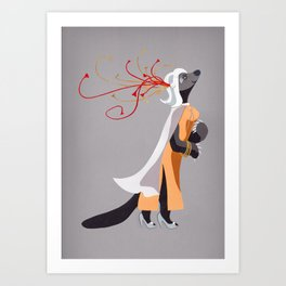 Ms Eugenia Honey - the Honey Badger Art Print