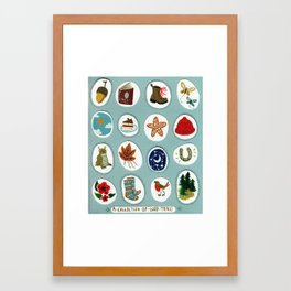 A collection of good things Framed Art Print