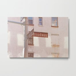Spring Street and Broadway Metal Print