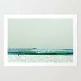 Surfing - The Emerald Coil Art Print