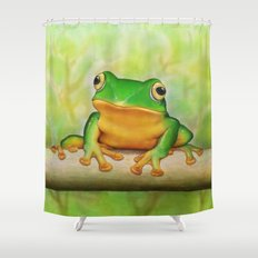 Taipei TreeFrog Shower Curtain