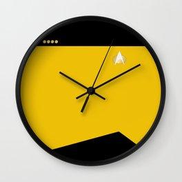 Star Trek: TNG Yellow Captain Uniform Wall Clock