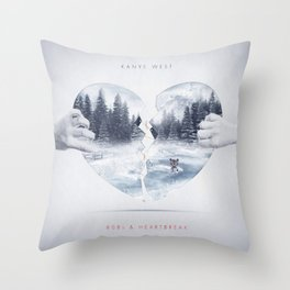 808s & Heartbreak ft. Dropout Bear Throw Pillow